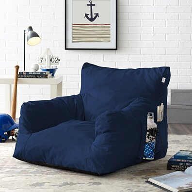 Loungie Comfy Foam Lounge Chair - Nylon Bean Bag | Indoor/ Outdoor | Self Expanding | Water Resistant