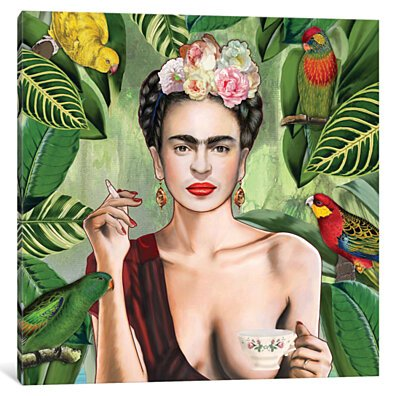 Frida Con Amigos by Nettsch Canvas Decorative Wall Print