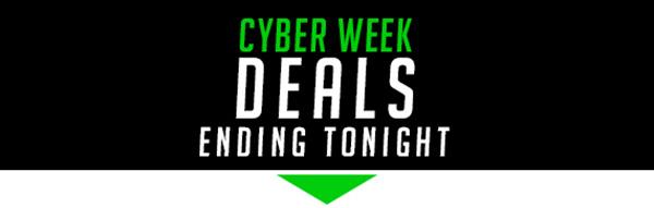 Cyber Week Deals Ending Tonight