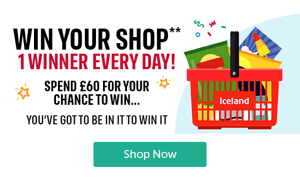 WIN YOUR SHOP 1 WINNER EVERY DAY! SPEND � FOR YOUR CHANCE TO WIN... YOU'VE GOT TO BE IN IT TO WIN IT Shop Now