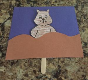 Groundhog Puppet Craft