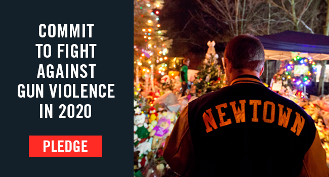 Make a pledge with us to continue the fight to end gun violence in 2020