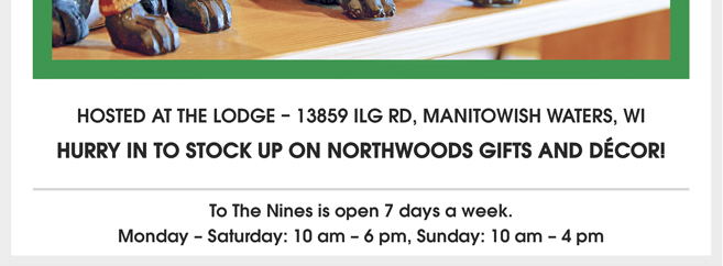 Or stop by and see us. Open 7 days a week. - Monday – Saturday: 10 am – 6 pm, Sunday: 10 am – 4 pm