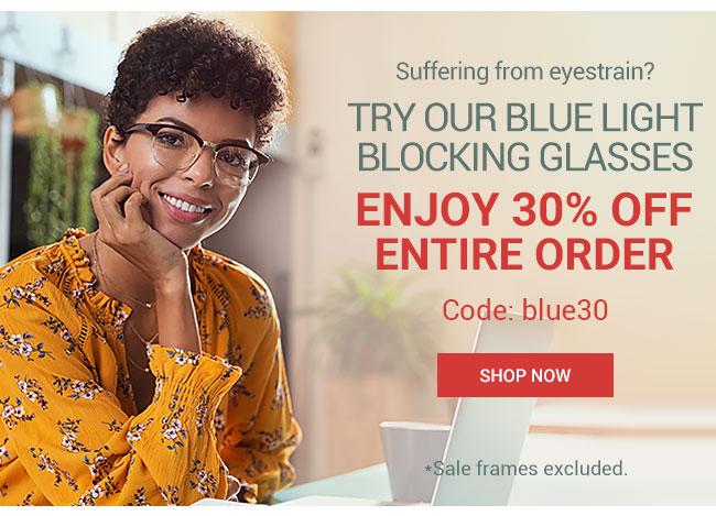 Enjoy 30% off entire orderCode: blue30