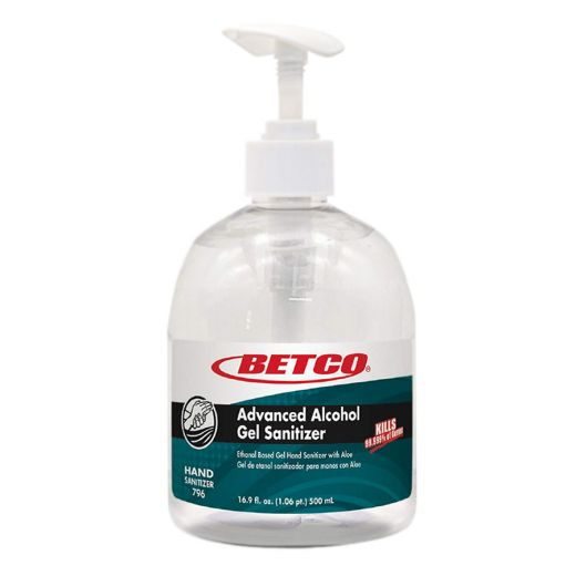 Betco Advanced Alcohol Gel Hand Sanitizer, 500 mL