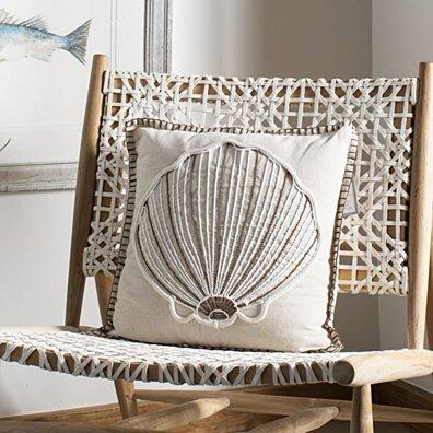 Della Seashell Pillow Natural