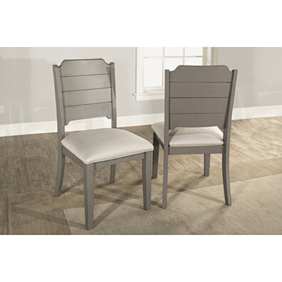 Clarion Dining Chair - Set of 2 - Distressed Gray