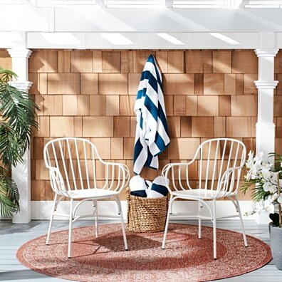 Tucker Outdoor Side Chairs White