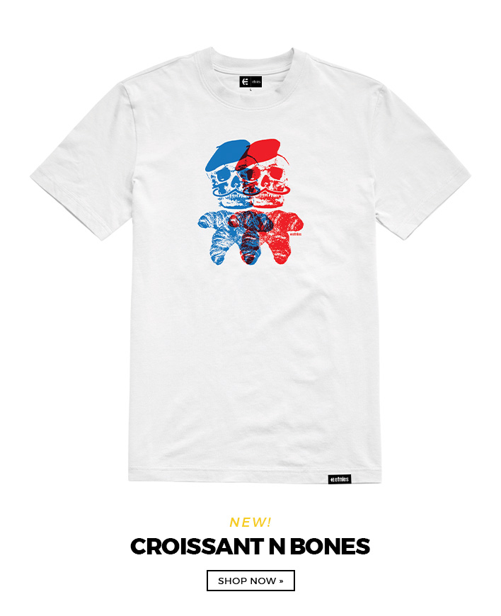 Croissant and Bones Tee