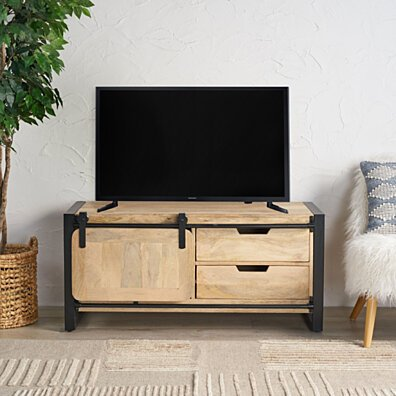 Xanthe Handcrafted Boho Mango Wood TV Stand