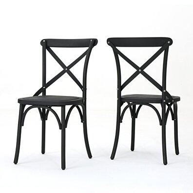 Shiff Farmhouse Classical Plastic Nylon Dining Chairs, Set of 2