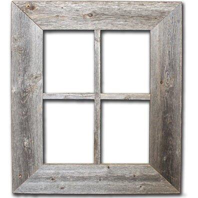 Rustic Barn Wood Window Frame
