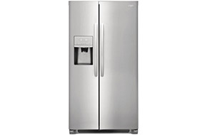 Shop Frigidaire Stainless Steel Side-By-Side Counter Depth Refrigerator