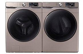 Shop Samsung Champagne Front Load Steam Washer with Electric Dryer