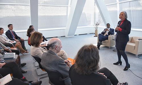 CNSC President Rumina Velshi visits the NEA, January 2020