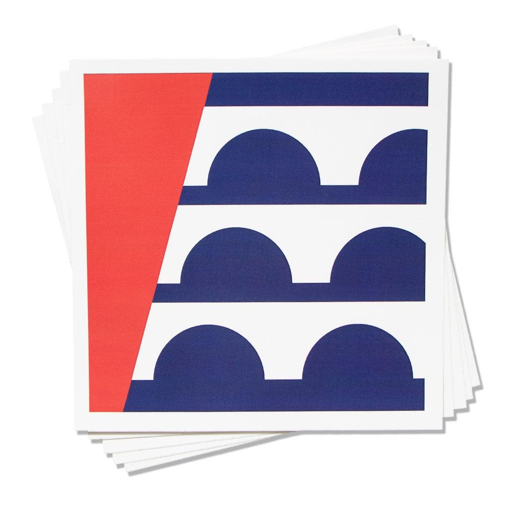 DSM Flag Square Sticker