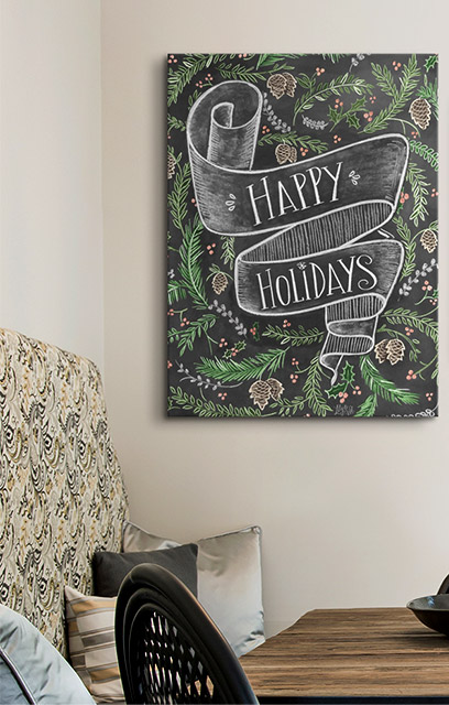 Happy Holidays Handlettering by Lily and Val