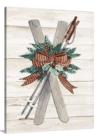 Holiday Sports on Wood IV by Kathleen McKenna