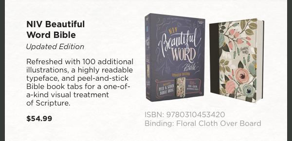 NIV Beautiful Word Bible - $54.99