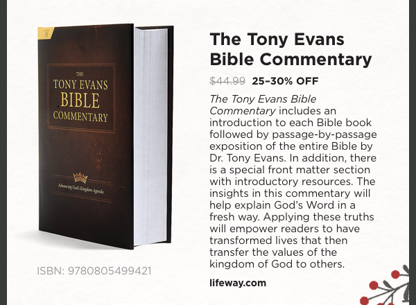 The Tony Evans Bible Commentary: 25-30% OFF