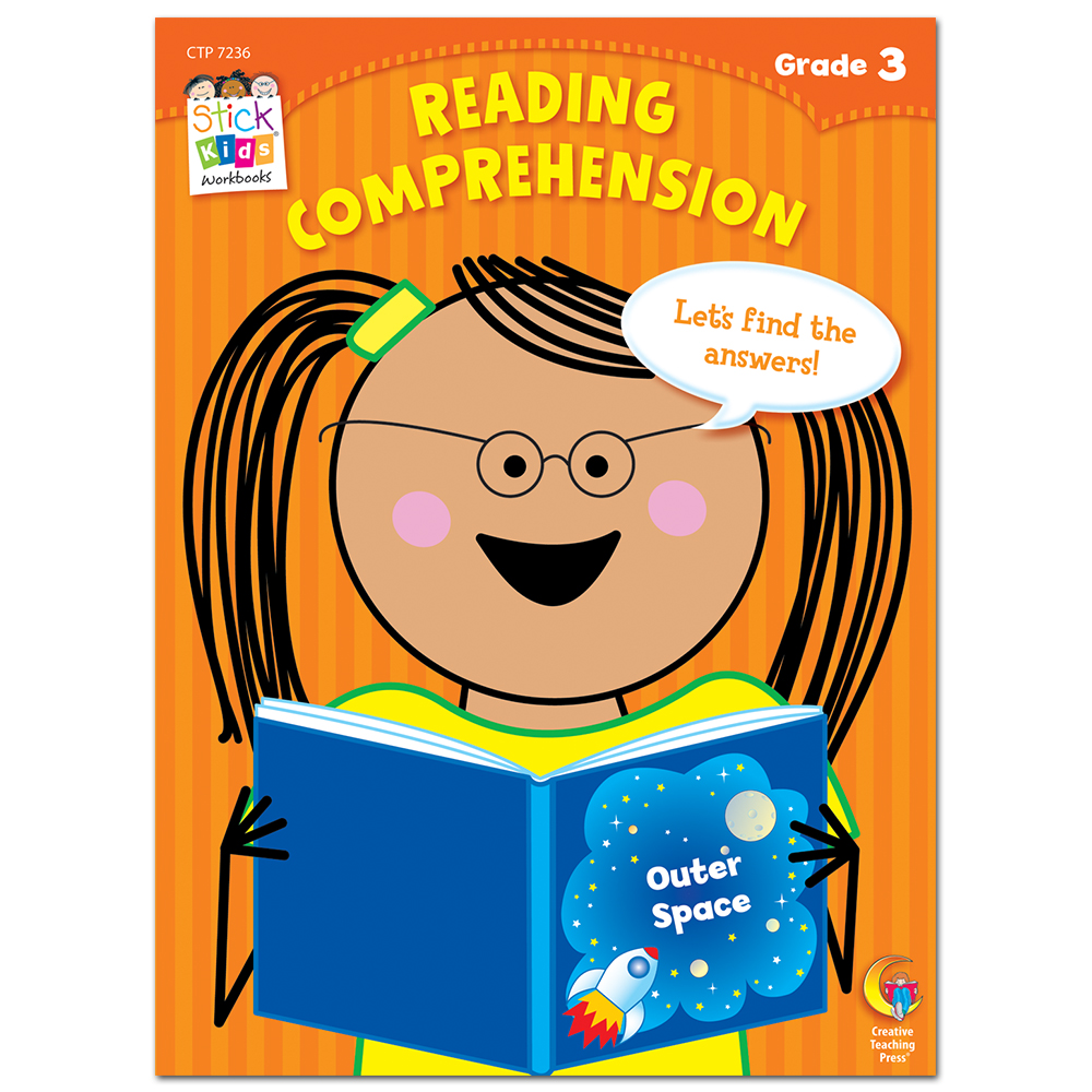 Reading Comprehension Stick Kids Workbook, Grade 3 eBook