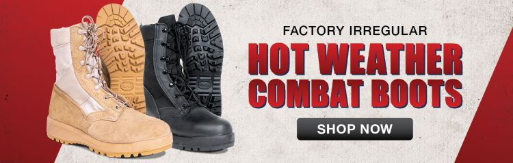 Propper S4300 Hot Weather Desert Sand Steel Toe Combat Boots for Humanitarian Aid
