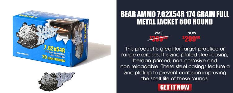 Ammo, Silver Bear, A754NFMJ, 7.62X54R,