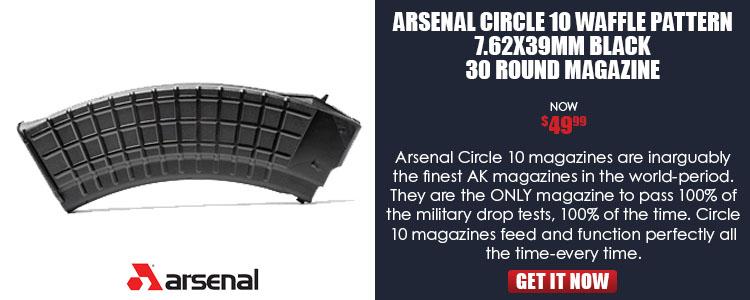 Arsenal Circle 10 Waffle Pattern 7.62x39mm Black 30 Round Magazine