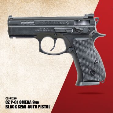 CZ P-01  (Omega), 9mm, black alloy - 14 rd mags - swappable safety/decocker