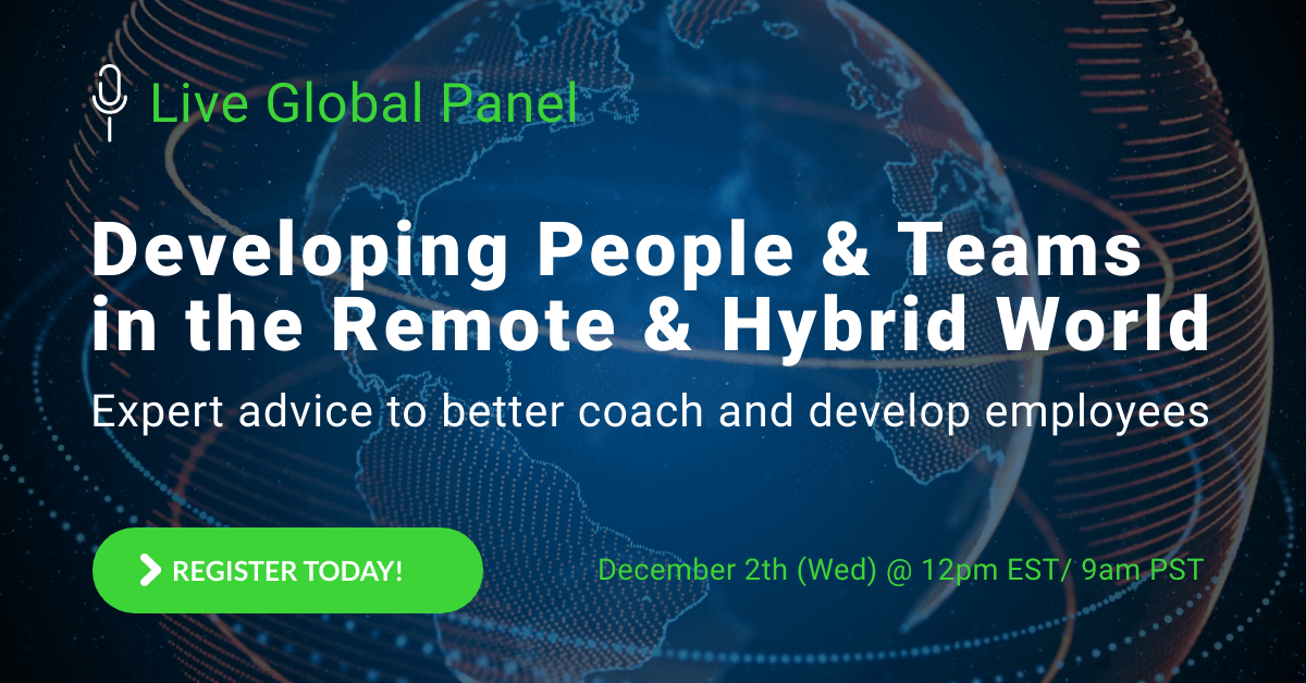 Webinar Registration: Developing People and Teams in the Remote and Hybrid World