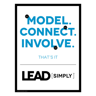 Lead Simply Poster