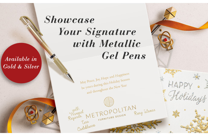 Showcase Your Signature with Metallic Gel Pens - available in gold and silver