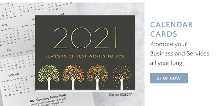 Shop Calendar Cards