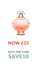 Paco Rabanne Olympea. Now ?25 with the code SAVE10.