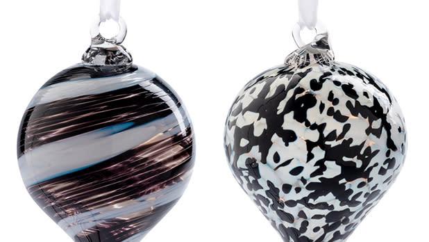 Corning glass ornaments