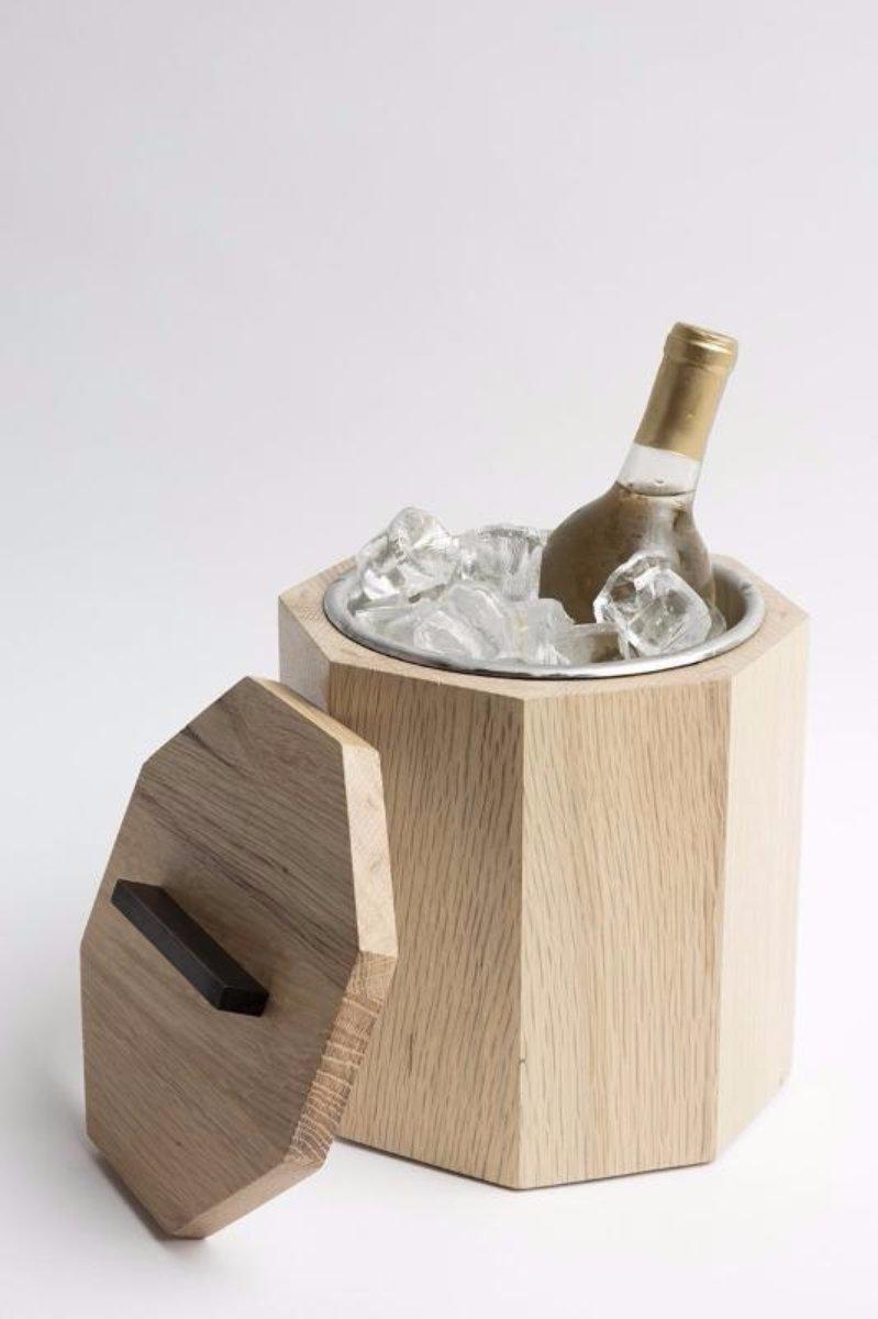 Solid Wood Ice Bucket