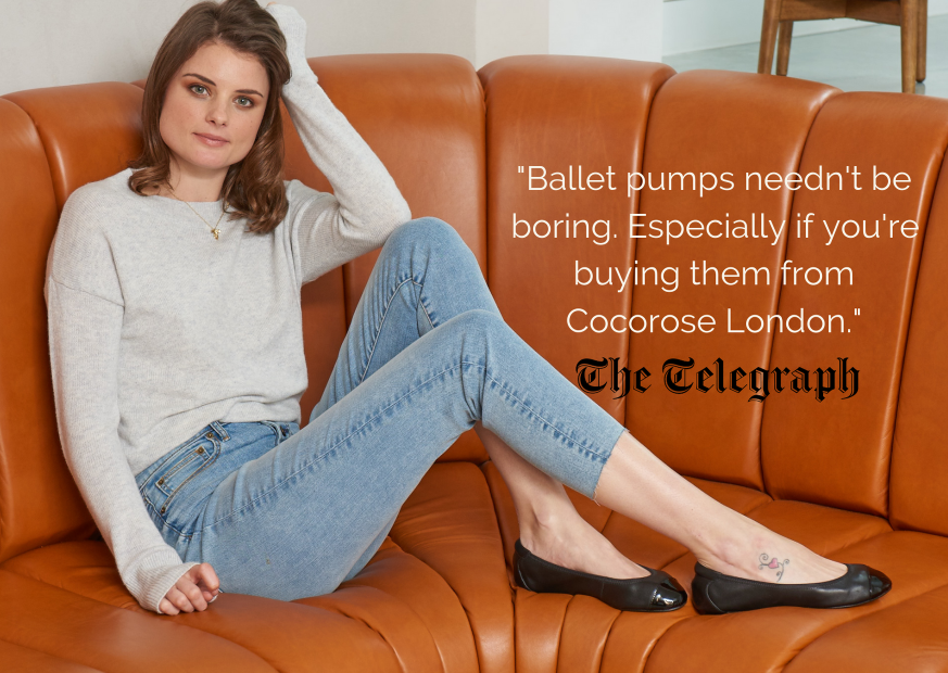 """Ballet pumps needn't be boring. Especially if you're buying them from Cocorose London."" - The Telegraph"