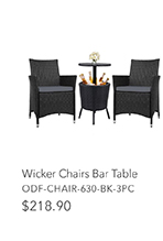 Wicker Chairs Bar Table