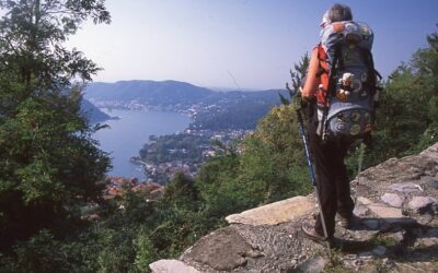 A long-distance walk around Lake Como in Italy