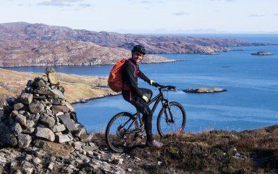 Mountain-biking Harris's Postman's Path