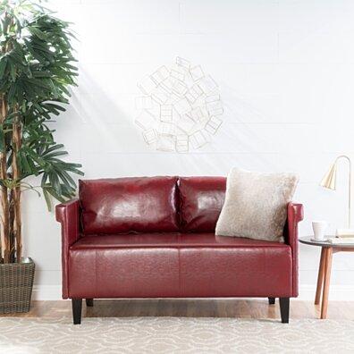 Harbison Leather Loveseat Settee