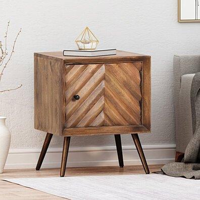 Xaviera Handcrafted Boho Mango Wood Cabinet