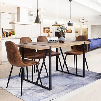 55.1'''' Home Dining Table Large Guest Room Table for 6 Person