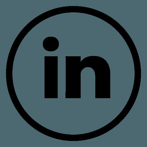 Image result for linkedin logo black circle