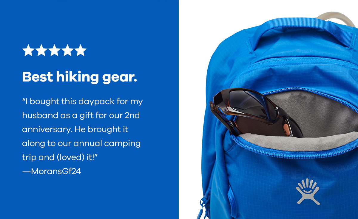 Best hiking gear. ''I bought this daypack for my husband as a gift for our 2nd anniversary. He brought it along to our annual camping trip and (loved) it!'' -MoransGF24