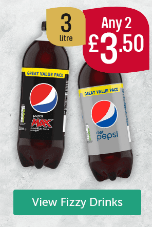Pepsi max 3L, Diet Pepsi 3L Any 2 �50 View Fizzy Drinks