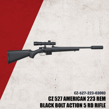 CZ 527 American Synthetic Suppressor Ready, 223 Rem