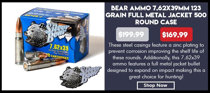 Ammo, Silver Bear, A762NFMJ, 7.62X39,
