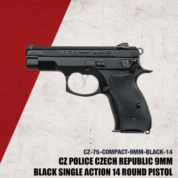CZ75 D PCR Compact 9mm Black 15rd -91194