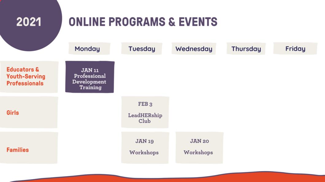 programs starting in January